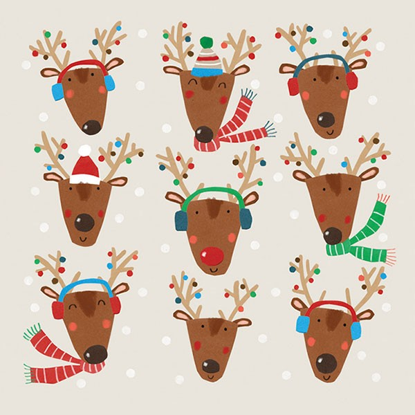 Nine Jolly Reindeer