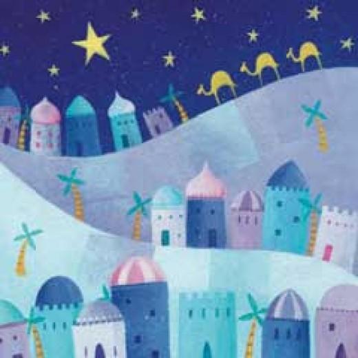 Bethlehem Scene Christmas Cards